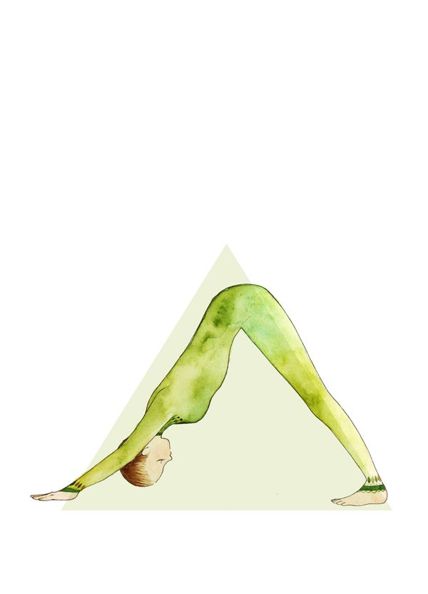 Down Dog Pose Yoga Illustration Yoga Lifestyle Pinterest