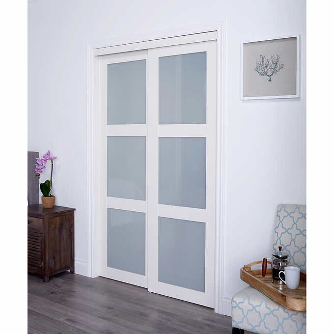Renin euro style white tempered glass sliding closet door barn renin euro style white tempered glass sliding closet door planetlyrics Image collections