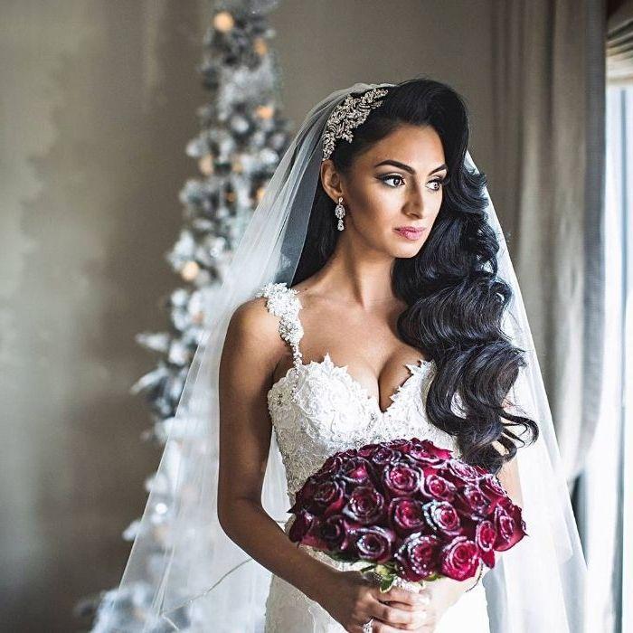 ▷ 1001 + Ideen für faszinierende Brautfrisuren mit Schleier – Boda fotos