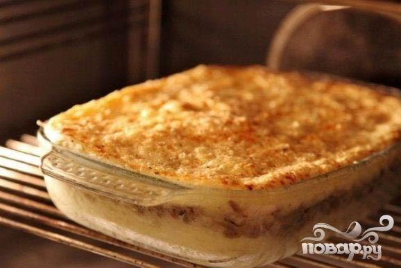 картофельная запеканка фаршем рецепт с фото