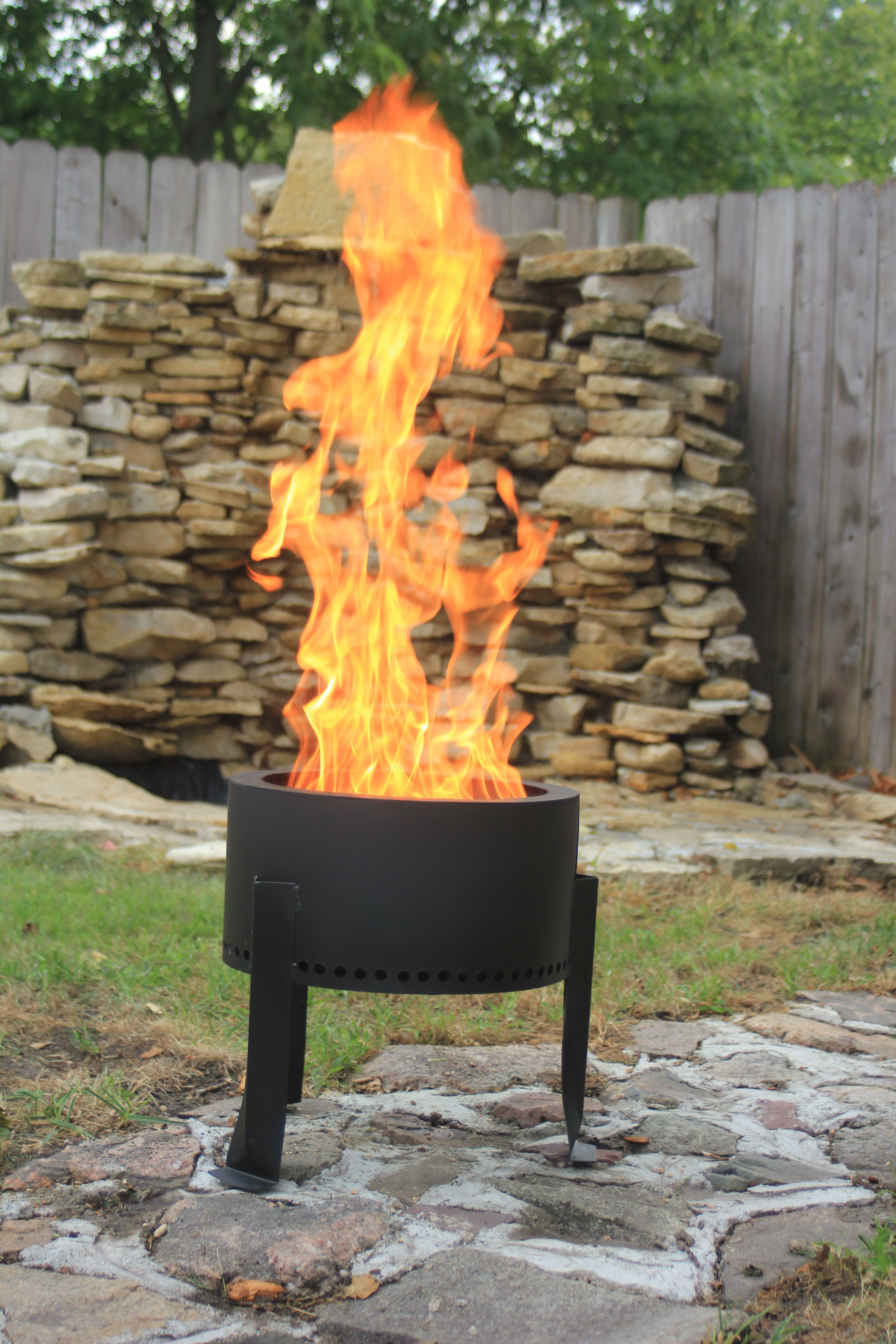 This Is A Pellet Fire Pit They Burn More Cleanly And Hotter Than Wood Fires By Using Wood Pellets Pellets Are Cheape Fire Pit Outdoor Fire Backyard