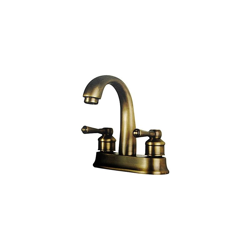 Antique Brass 4 Inch Centerset Bathroom Faucet Utility Sink Mixer Tap 4 Inch With 2 Handles Bathroom Sink Faucets Vessel Sink Faucet Faucet