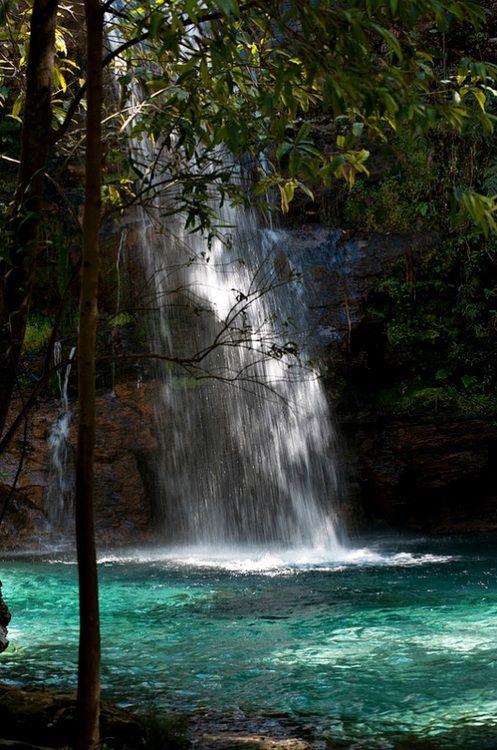 Cachoeira Santa Bárbara - Alto Paraíso de Goiás, Goiás (por kleber fernandes )