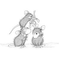 birthday Mischief Stampendous House Mouse Cling Stamp