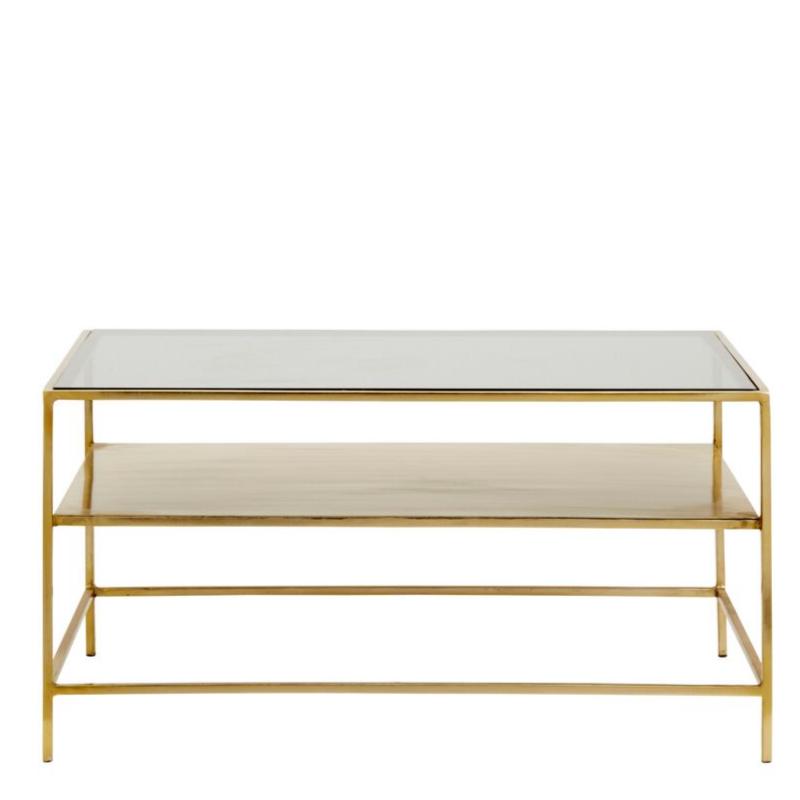 Table Basse Decadent Metal Verre Dore Noir Decoration Vintage Salon Nordal Table Basse Table Basse En Laiton Mobilier Naturel