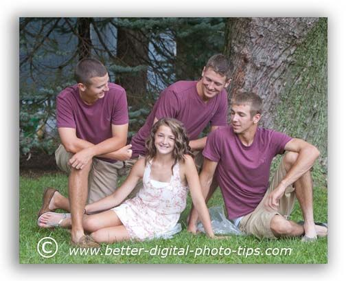 Posing Older Siblings | Another group photography portrait tip is to try a pose where your ...