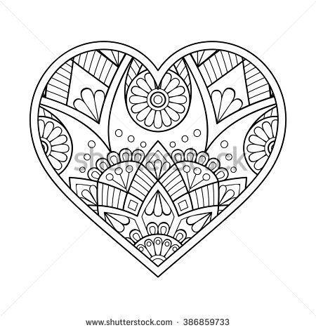 image result for heart mandala design patterns pinterest