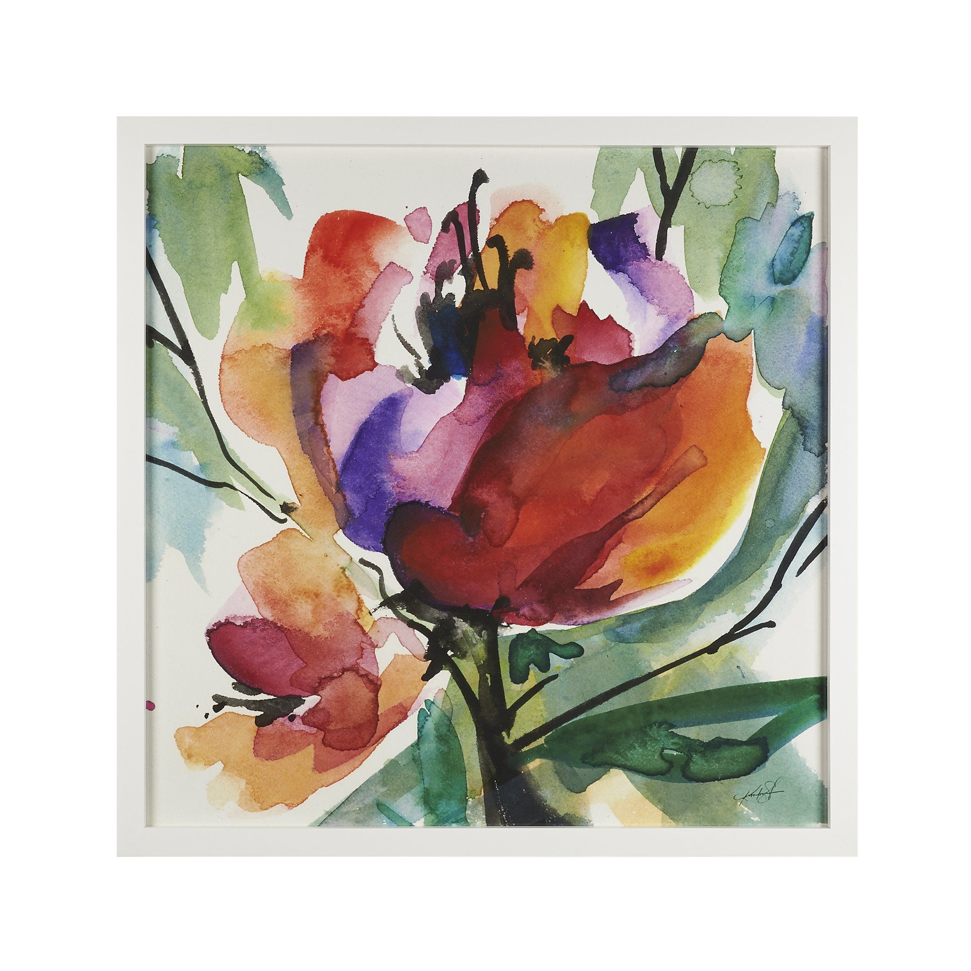 Serendipity Print Floral Watercolor Abstract Flowers Abstract