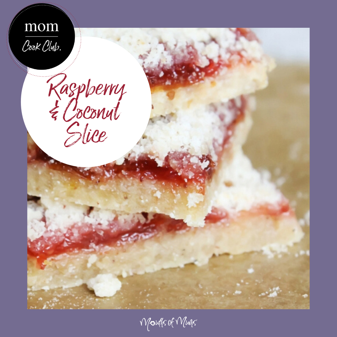 Need a few new recipes for the Weekend Baking? We're crushing on this slice - a traditional recipe but always amazing. And if you're not a fan of coconut, switch out for almond meal. DOUBLE YUM! Raspberry Coconut Squares >>  . . #momcookclub #mouthsofmums #nomnom #easyrecipe #delish #homemade #closetohome #sogood #slice #raspberry #coconut #traditionalrecipe