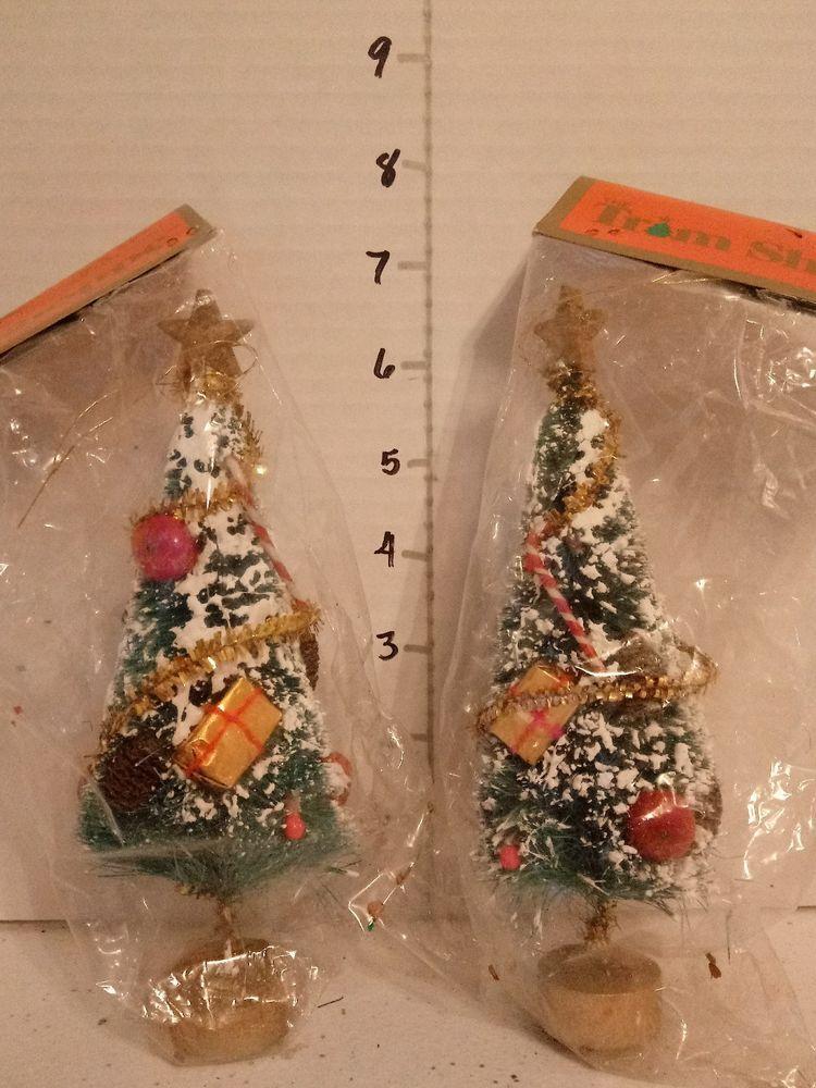 Vintage, nos, christmas bottle brush bottle brush trees