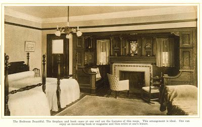 Bedroom With Inglenook From 1915 Pre Finished Woodwork Brochure Bungalow Decor Inglenook Home