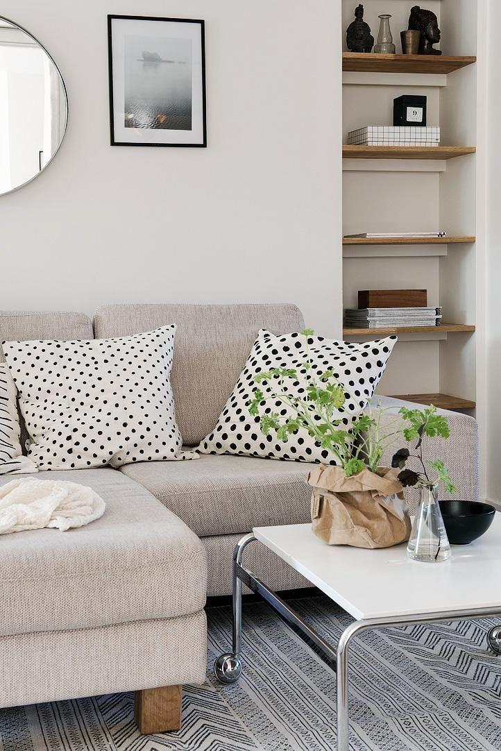 Gris y blanco para un mini piso Gris, Blanco y Tabique