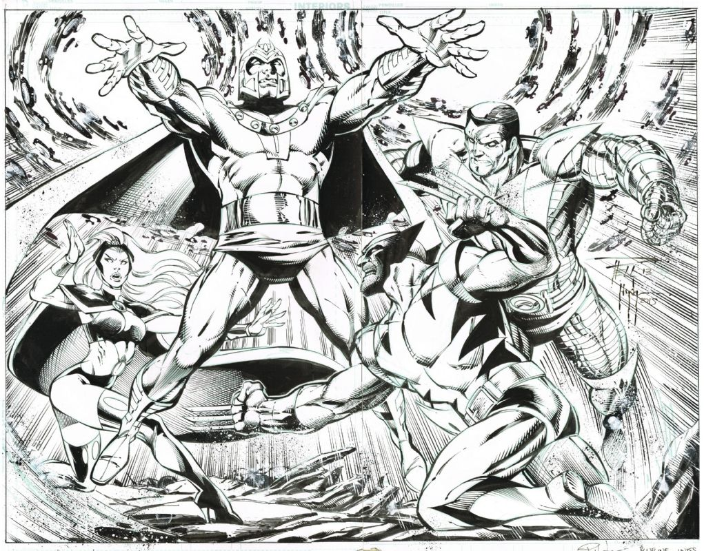 X Men Vs Magneto Blueline Inked In Wesley Dupont S Mutants Mutants Mutants Comic Art Gallery Room 12828 Art Reference Illustrations And Posters Comic Art