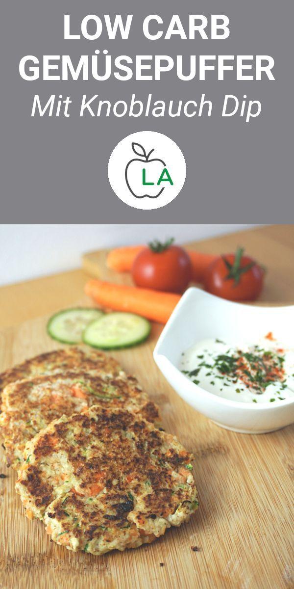 Low Carb Gemüsepuffer mit Dip – Rezept zum Abnehmen – Carey&CleanEatingS