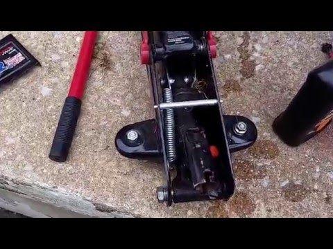 How To Add Or Change Hydraulic Fluid On Floor Jack Youtube Hydraulic Fluid Floor Jack Jack Youtube
