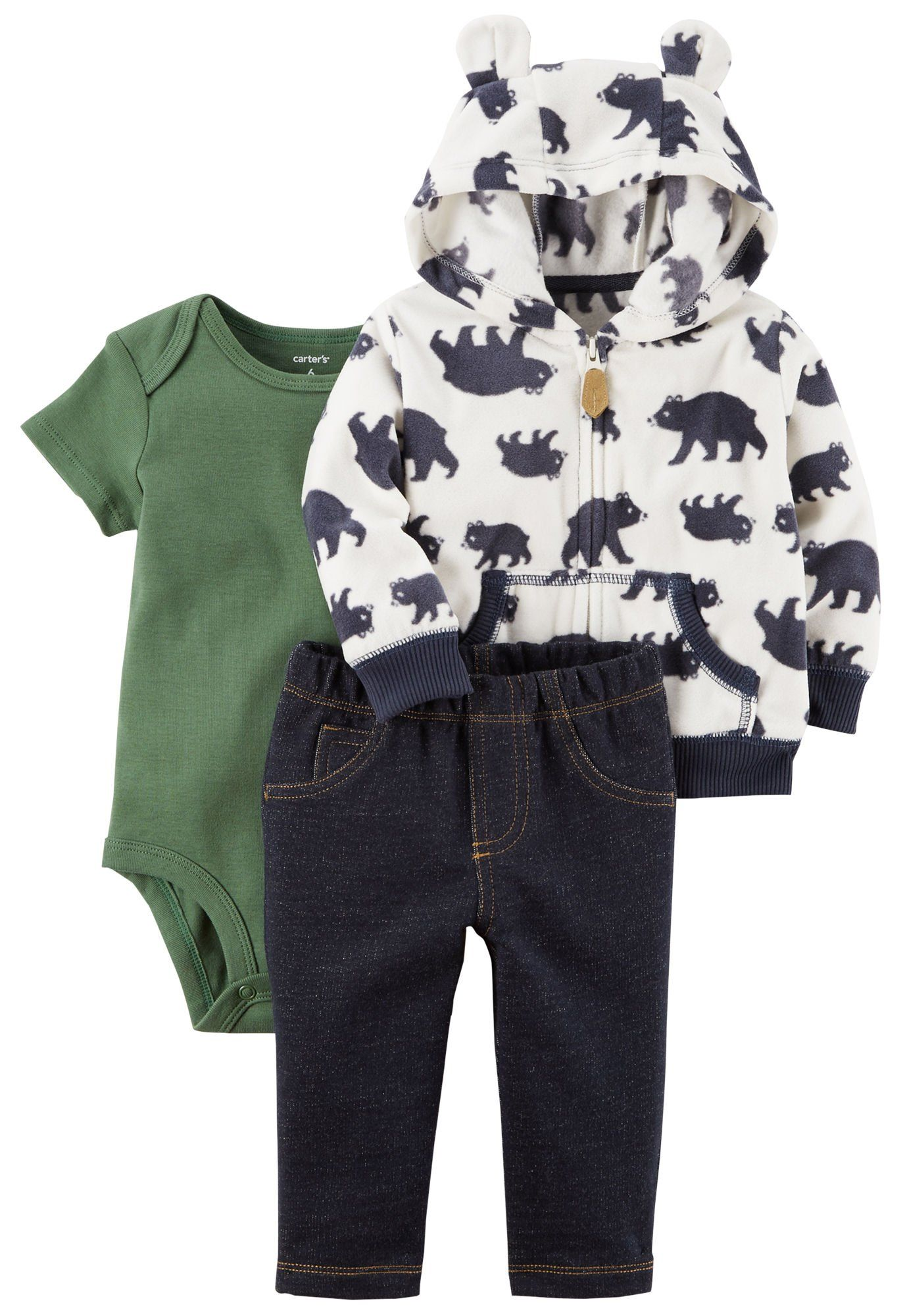 34e58b4bf Carters Baby Boys 324 Months 3 Piece Bear Print Little Jacket Set 9 Months  ** Click image for more details. (This is an affiliate link) # ...