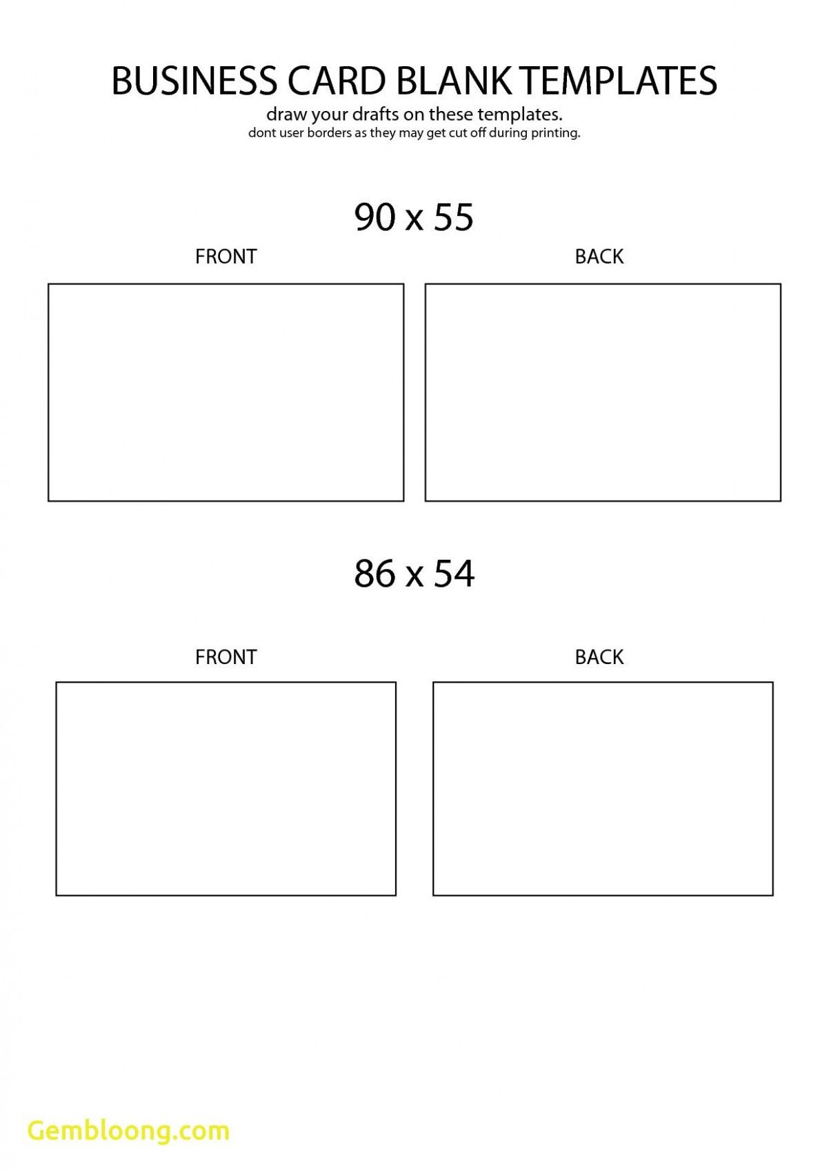 free blank business card template front and back design