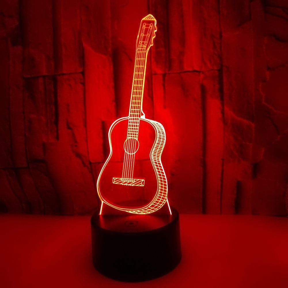 Colorful Led 3d Vision Night Light Guitar Image Touchment Control Color 3d Night Lamp Desk Light Yesterday S Price Us 24 00 21 3 Lamp Night Lamps Illusions