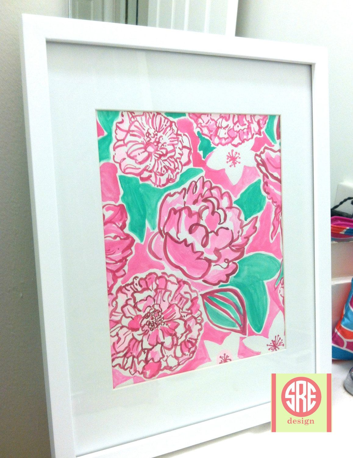 Lilly Pulitzer Azalea Pink May Flowers water color print   Pinterest