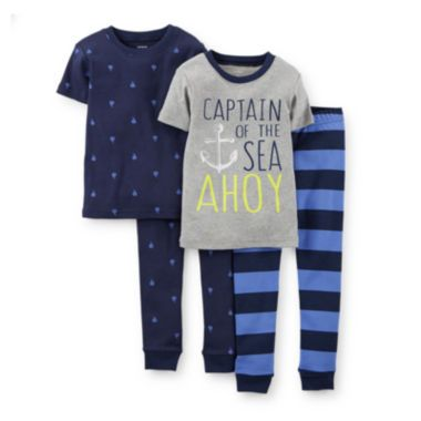 Carter's® 4-pc. Captain Pajama Set – Boys 2t-5t  found at @JCPenney