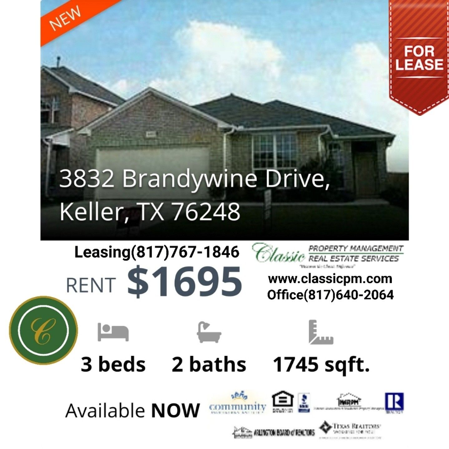 Beautiful 3 Bedroom 3 Bath Houseforrent In Keller Texas Real Estate Services Property Management Texas Real Estate