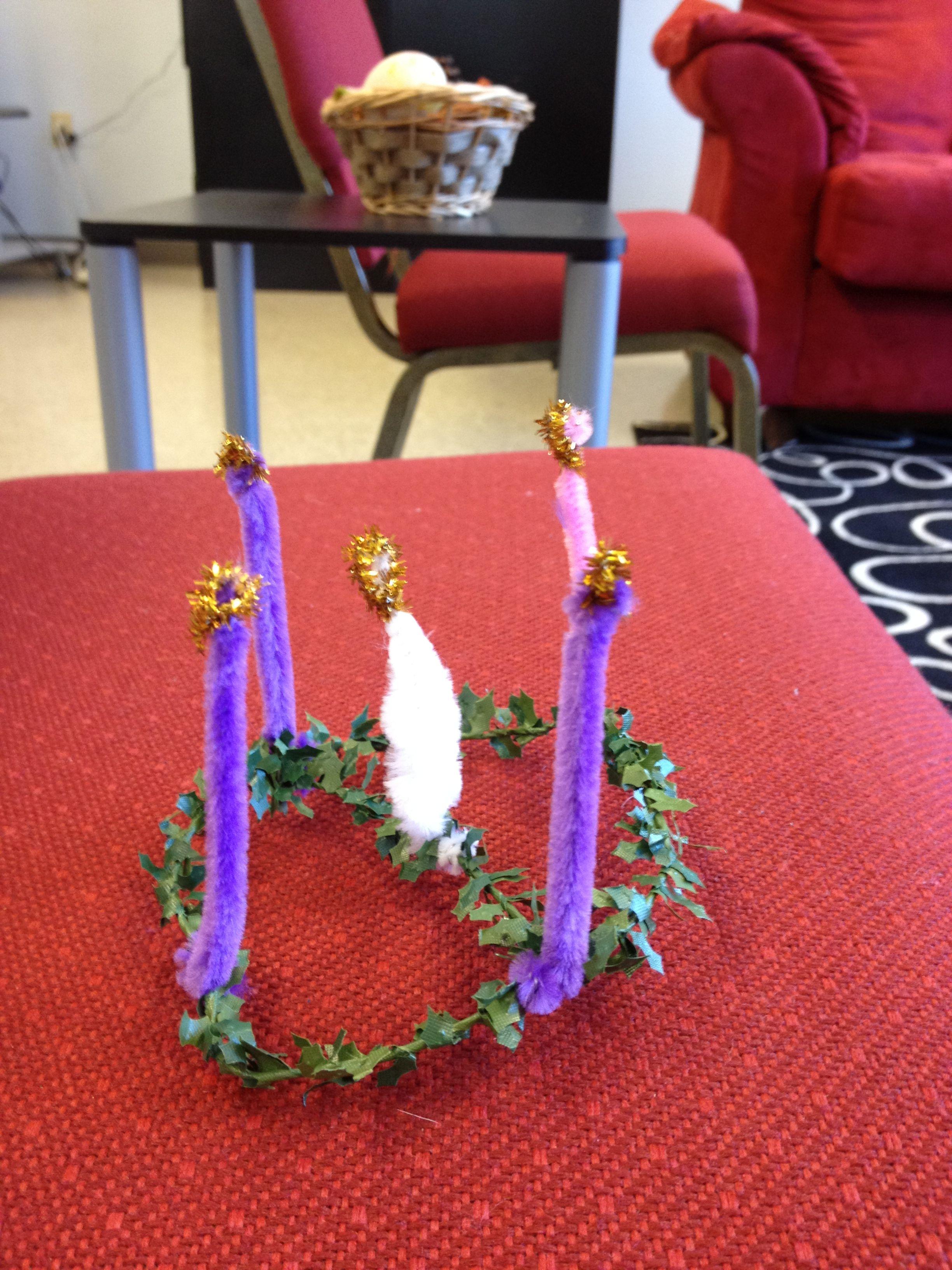 Toddler Preschool Friendly Advent Wreath