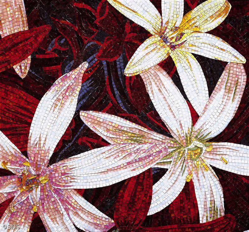 Red Floral Mosaic Tile :: Sicis | Mosaics | Pinterest ...