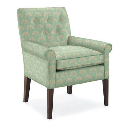 Ginko Aqua Natalie Chair Traditional Chairs Upholstered