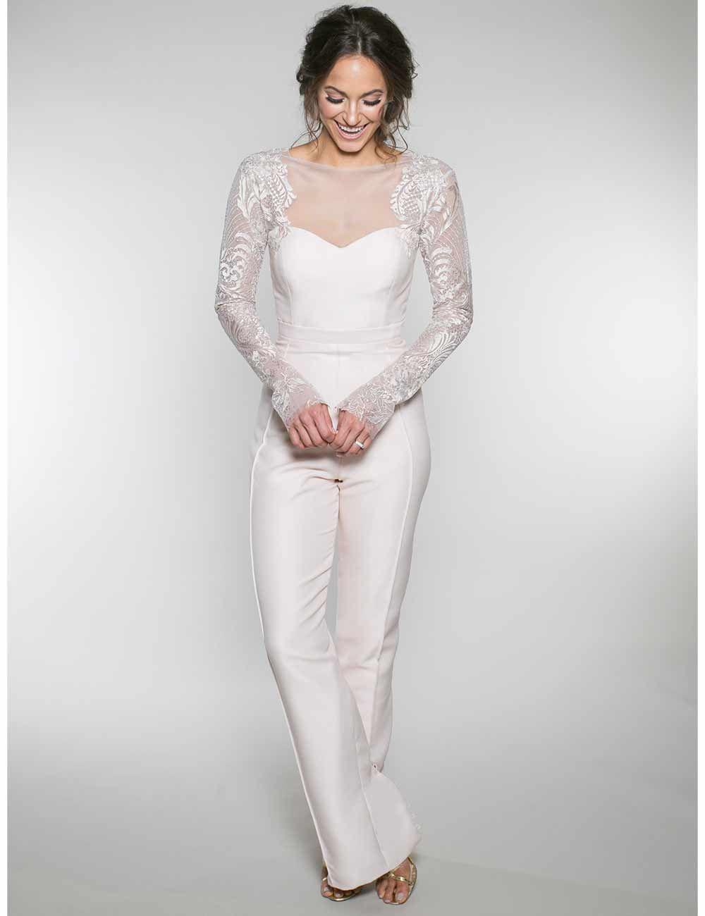 wedding jumpsuits that stylish brides will love  wedding