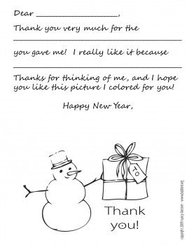 image about Printable Thank You Cards Black and White named Black and White Edition - Colour your Particular Snowman! For the