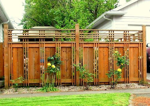 Beautiful fence in roseway neighborhood portland fenced for Craftsman style fence