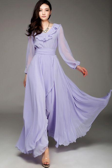 f54a98bdd264 Robes dubai 2015 Long Sleeve Chiffon Dress, Hijab Dress, Maxi Dresses,  Cheap Dresses