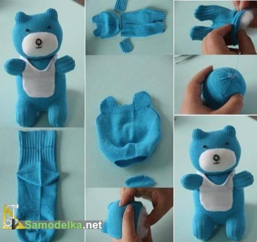 Как сделать игрушку медведя из