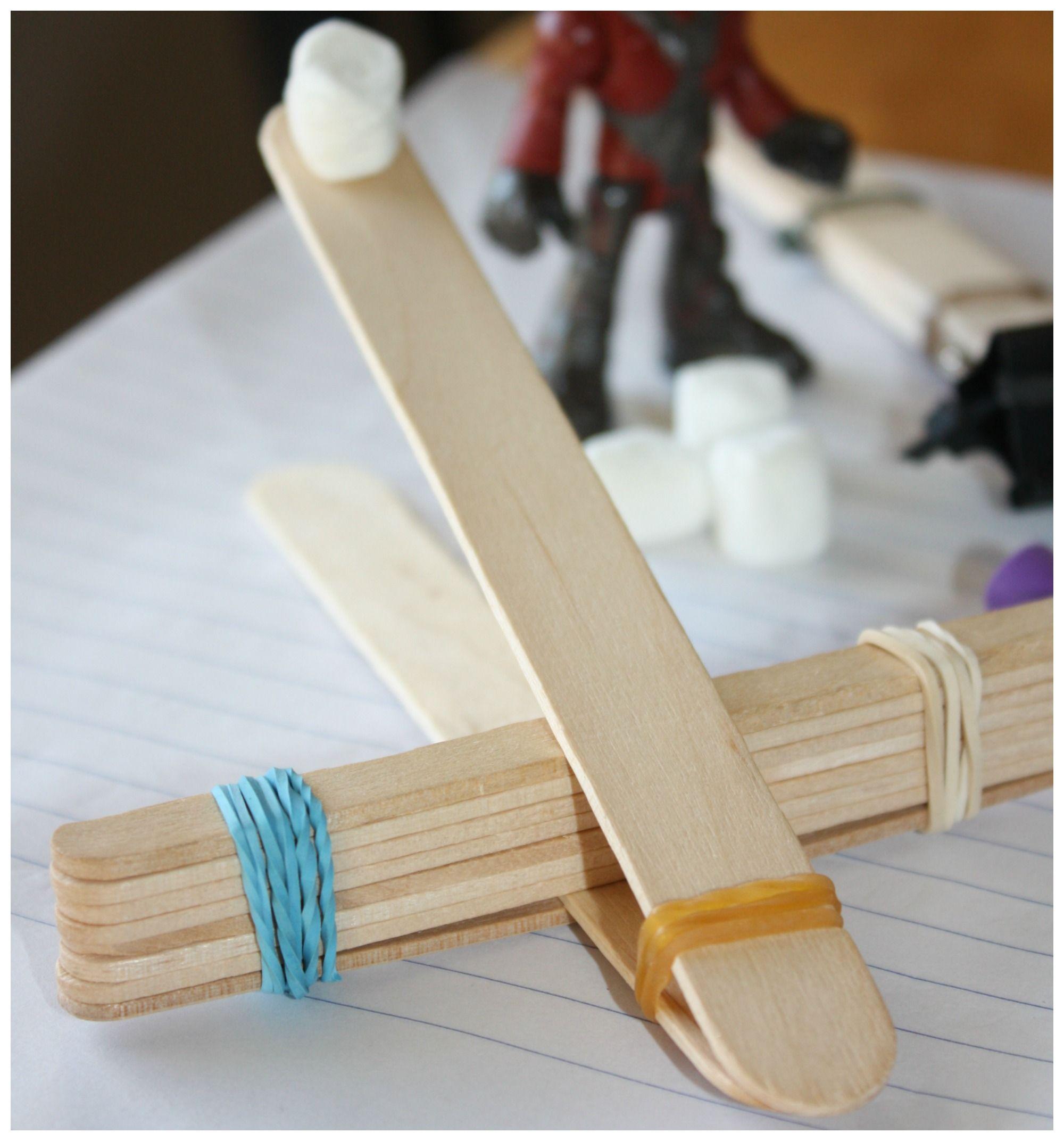 Popsicle Stick Catapult For Kids Stem Activity