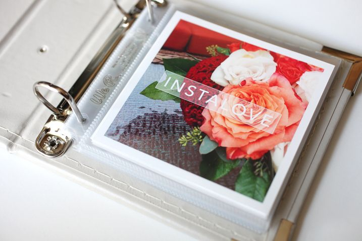 Want to do something fun with your Instagram images? This little album project could be right up your alley. #crapfreescrapbooking