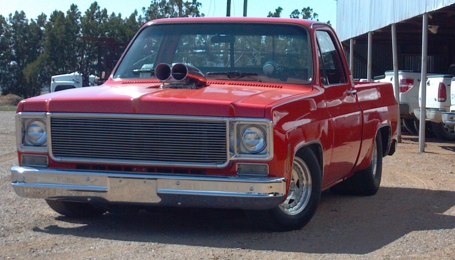 1975 chevy c10 pro street truck at work