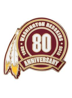 Redskins 80th Anniversary Hatpin