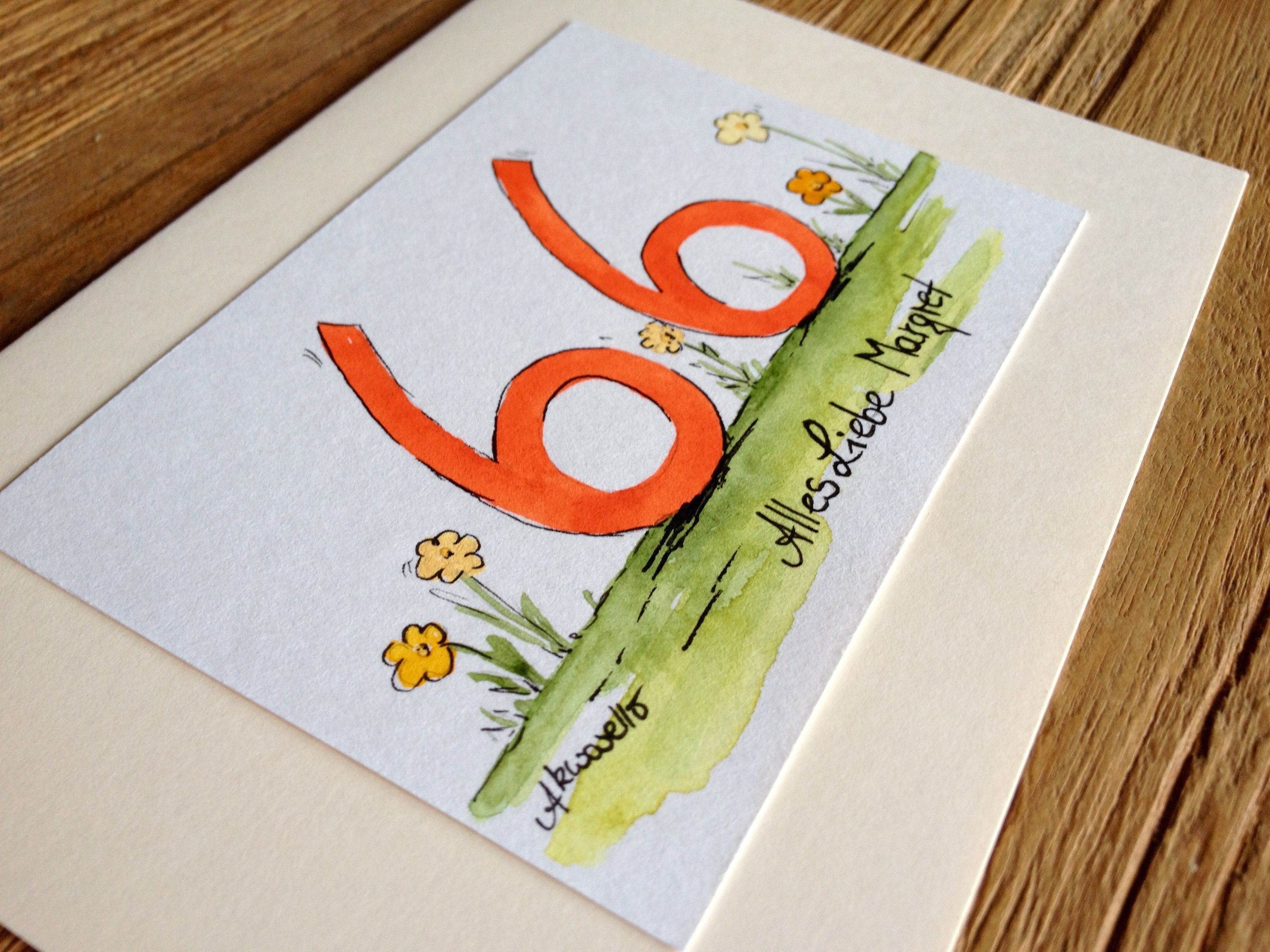 Happy Birthday by Akwarello ** Direkt über den Akwarello-Shop http://de.dawanda.com/shop/Akwarello bestellen! #birthday #Geburtstag#auguri#happy#happybirthday#watercolor#aquarell#glückwünsche#karte#cards#crafting#craft