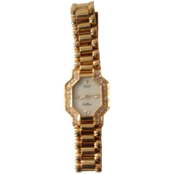 Pre-owned watch (€7.000) ❤ liked on Polyvore featuring jewelry, watches, gold, vintage wrist watch, rolex, gold wristwatch, gold jewellery and gold wrist watch
