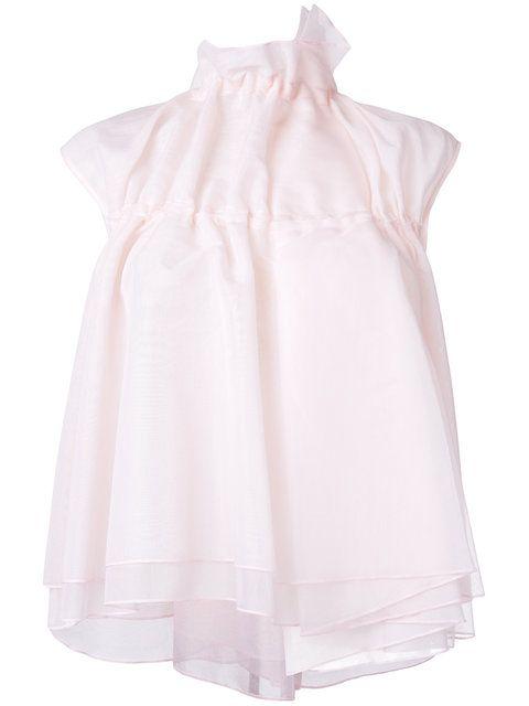 e2734622668 Shop Steven Tai sleeveless gathered neck blouse.