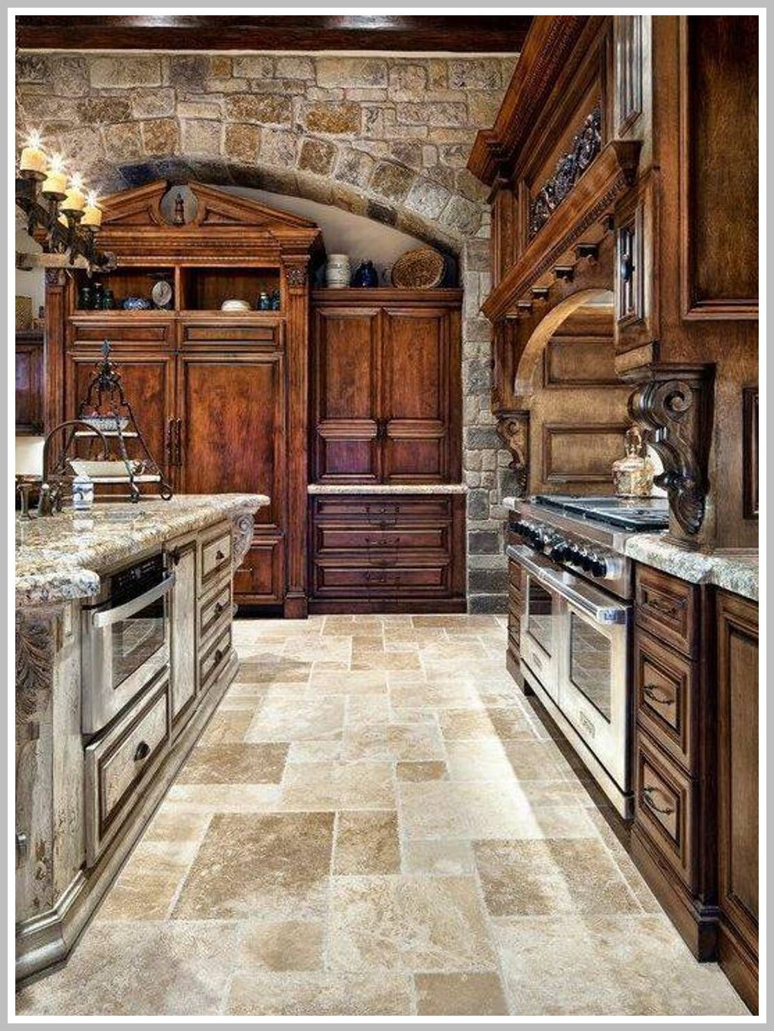 58 Reference Of Kitchen Cabinets Old World Style In 2020 Stone Kitchen Design Tuscan Kitchen Design Tuscan Kitchen