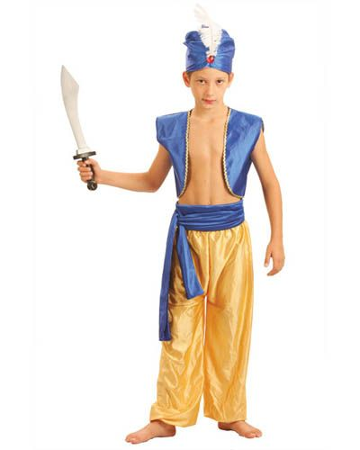 Arabian Kids Boys Dress Halloween Cosplay Party Prince Outfit 4-10Y