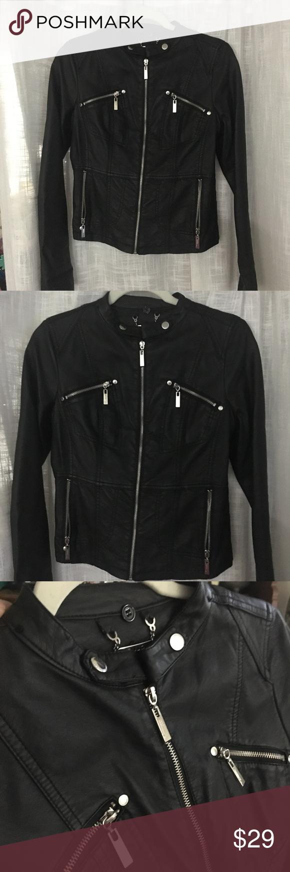 Joujou faux leather jacket Faux leather jacket. Used but