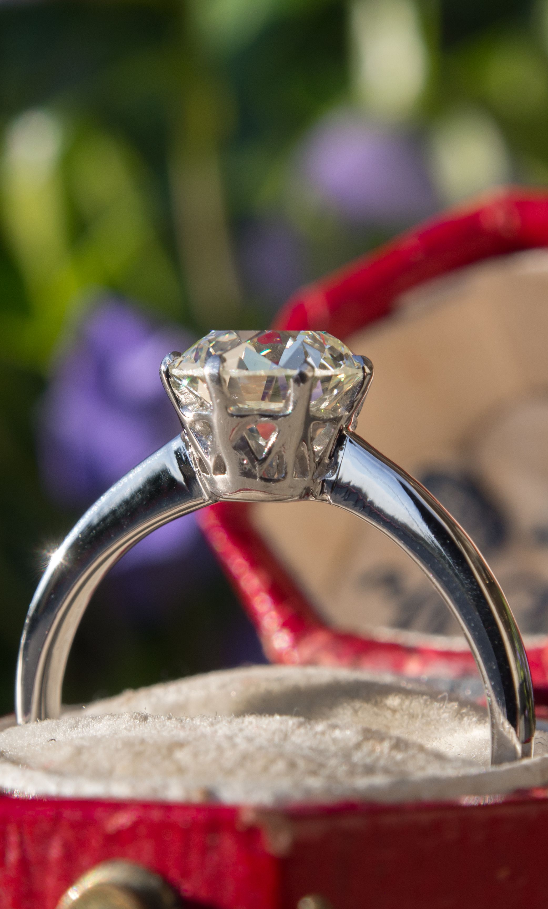 1.49 Carat Solitaire Vintage Engagement Ring Platinum