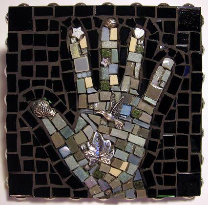 Thaden Mosaics - Bird in the Hand