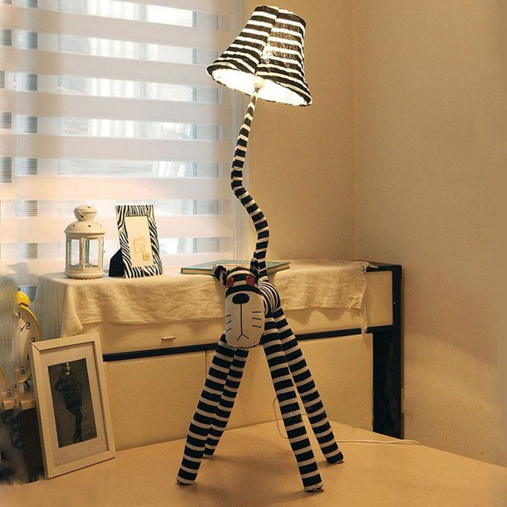 kids bedroom fabric cat floor lamps. | Cool floor lamps ...