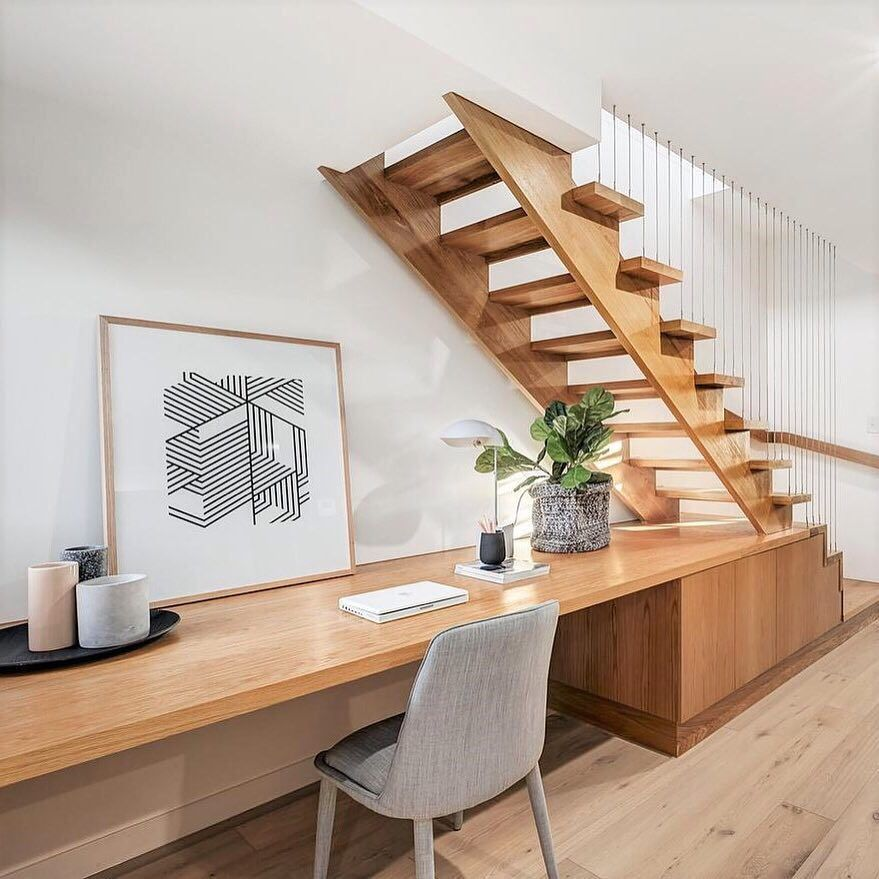 Modern Storage Ideas For Small Spaces Staircase Design: Under Stairs Desk (With Images)