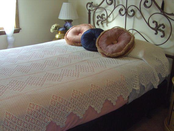 Crochet Bedspread/On Sale by stellaO on Etsy