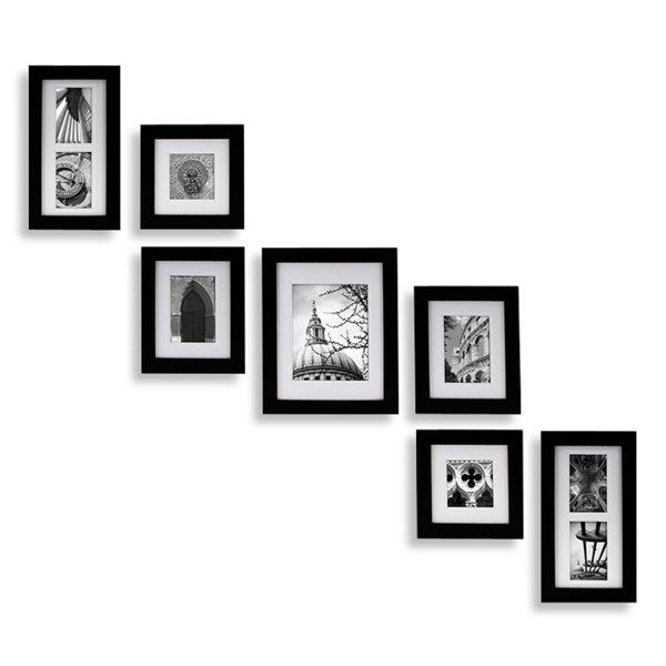 Create A Gallery Portrait 7 Piece Wood Frame Set Black 79 99 Bed Bath And Beyond Gallery Wall Picture Frames Picture Frame Wall Frames On Wall