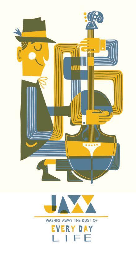 Jazz Posters On Behance Ideas Jazz Poster Jazz I Jazz Art